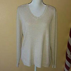 Large Karen Scott v-neck sweater